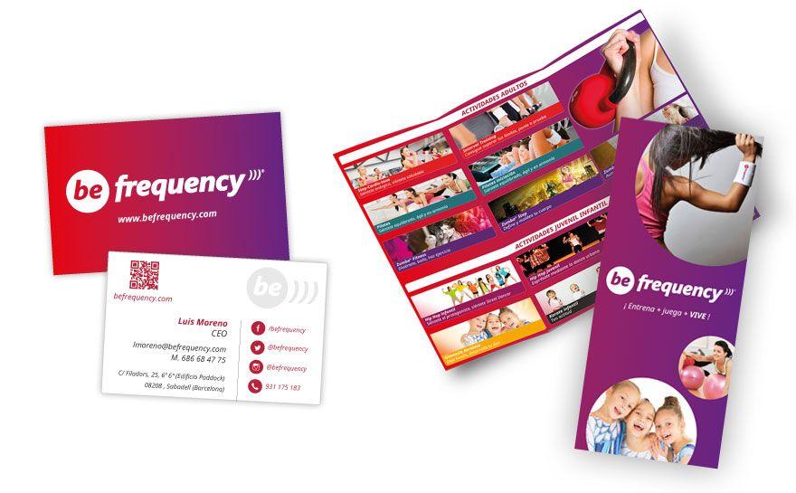 Be Frequeny - Diseño gráfico para empresa de eventos