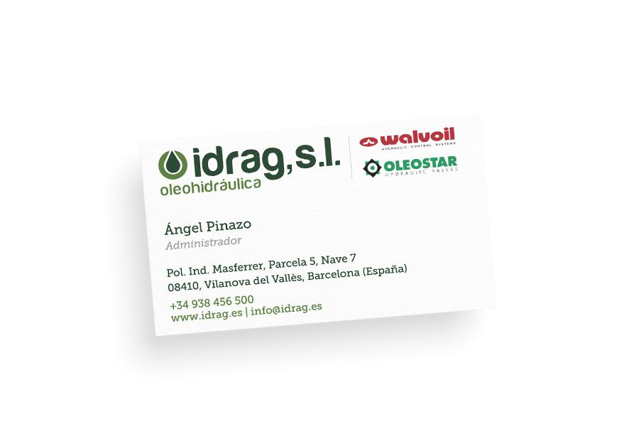 Idrag - Diseño gráfico para empresa de sistemas oleohidráulicos