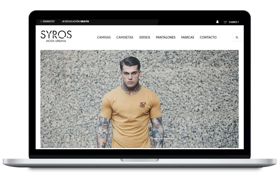 Syros - Diseño web para tienda de ropa