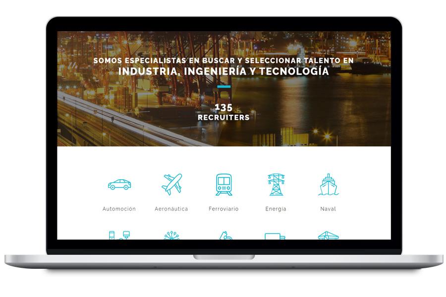 4heads.net - Diseño web para empresa de recruiting