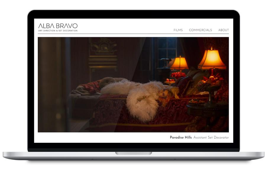 Alba Bravo - Diseño web para portfolio personal
