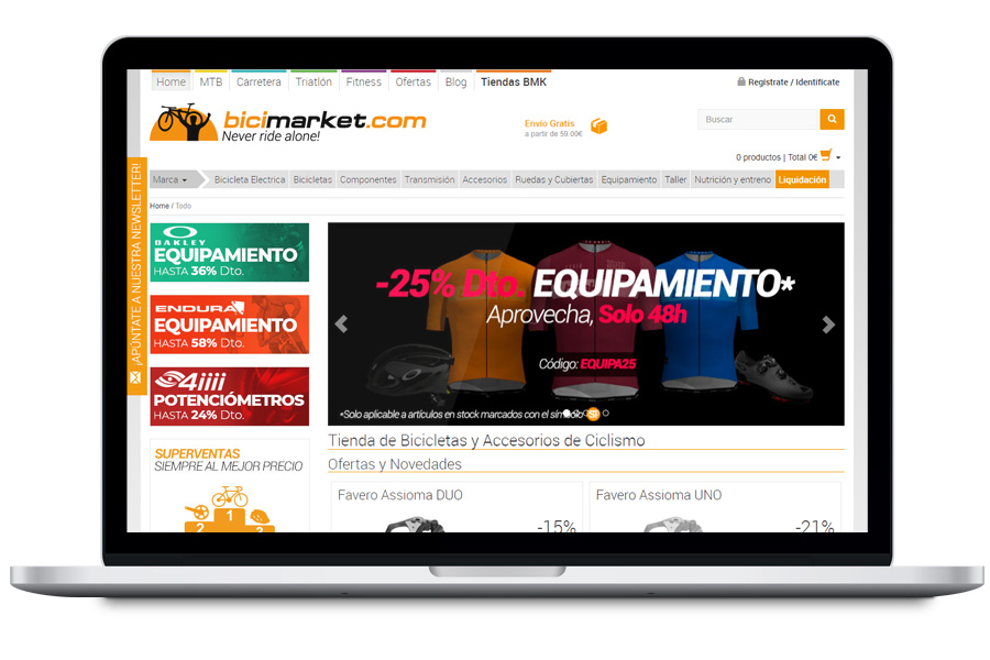 Bicimarket - Diseño web para tienda de bicicletas
