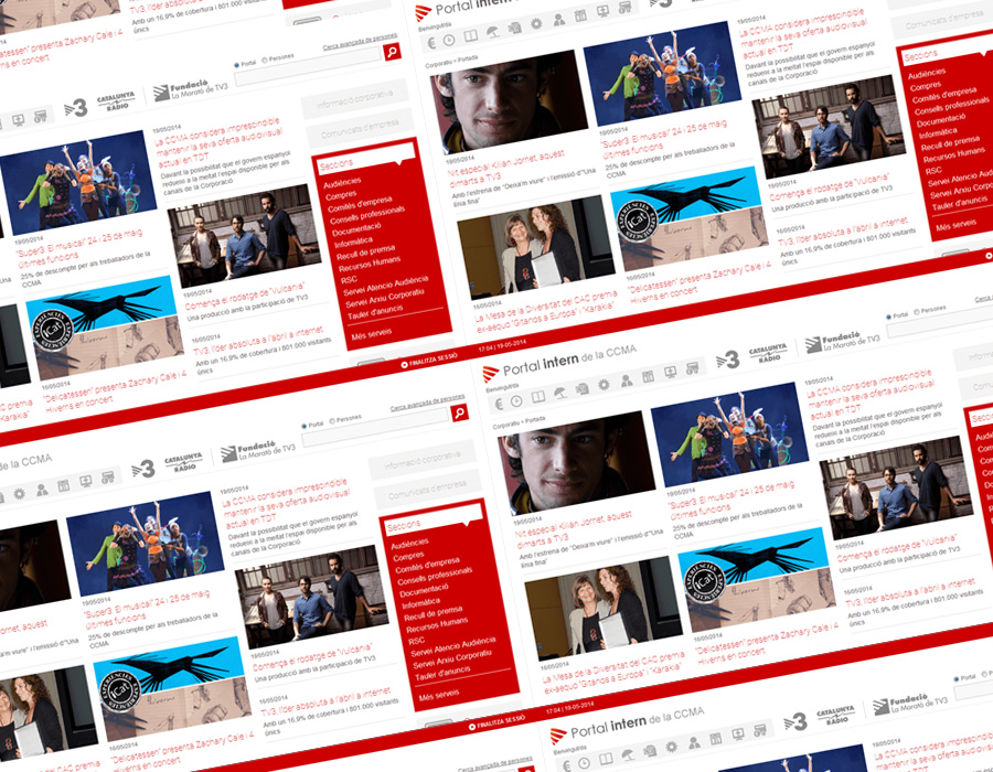 Portal CCMA - Diseño web de portal interno