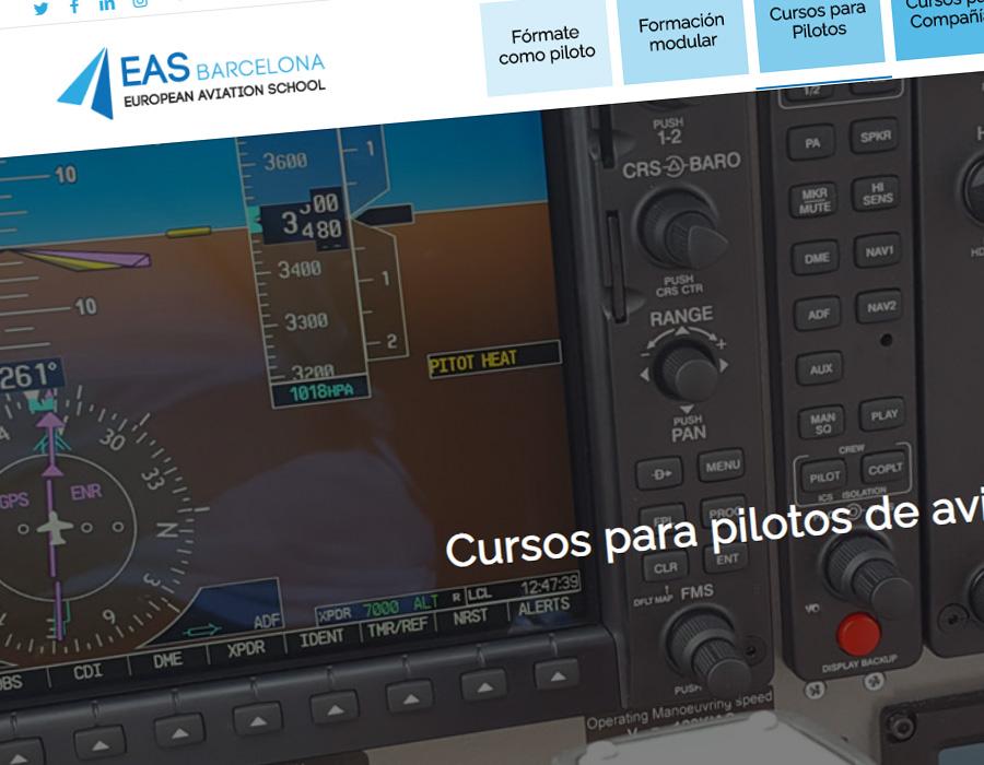 EAS Barcelona - Diseño web para escuela de aviación
