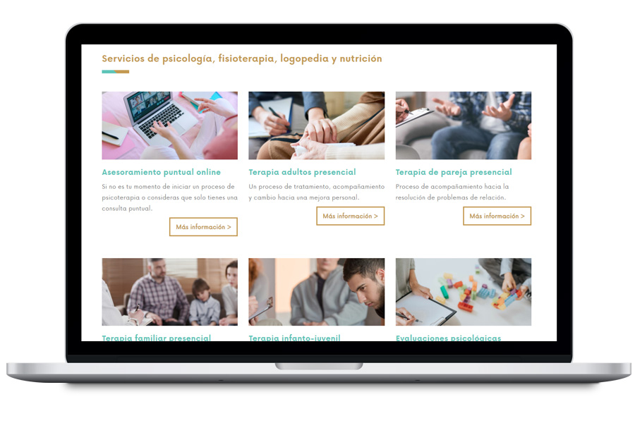 Diseño web para psicóloga y psicoterapeuta