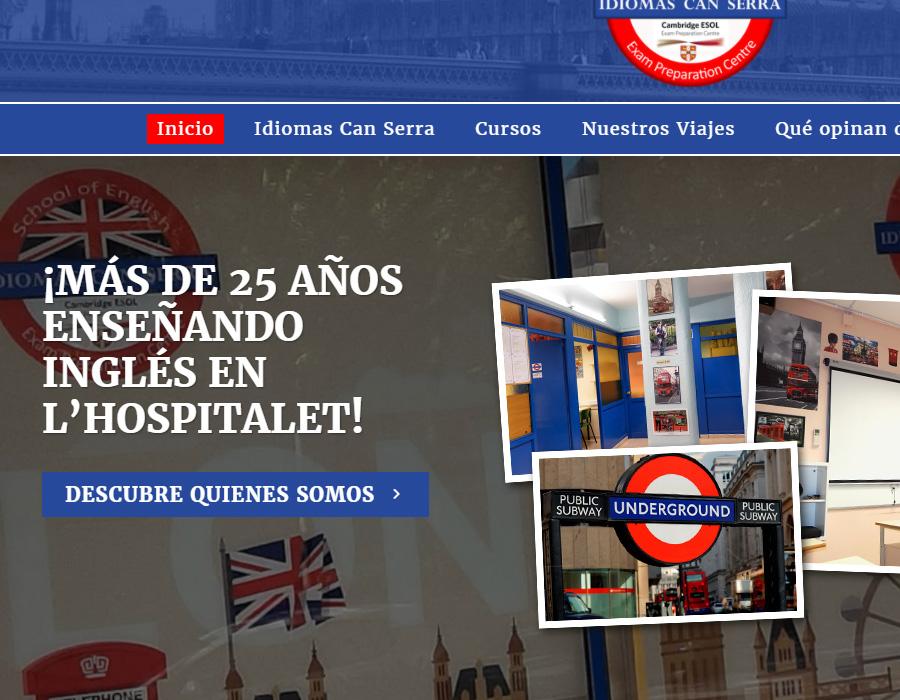Idiomas Can Serra - Diseño web para escuela de idiomas