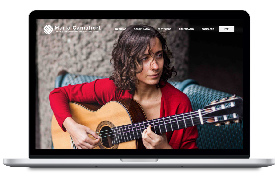 Maria Camahort - Diseño web para guitarrista
