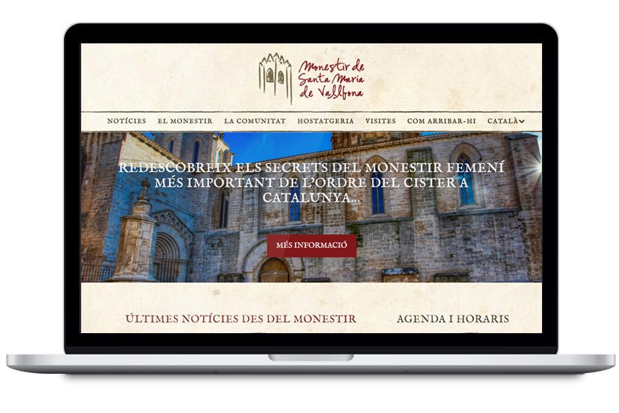 Monestir Vallbona - Diseño web de turismo