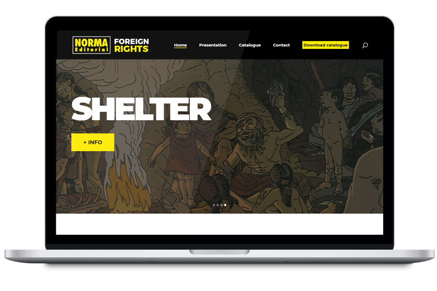 Norma Foreign Rights - Diseño web para editorial
