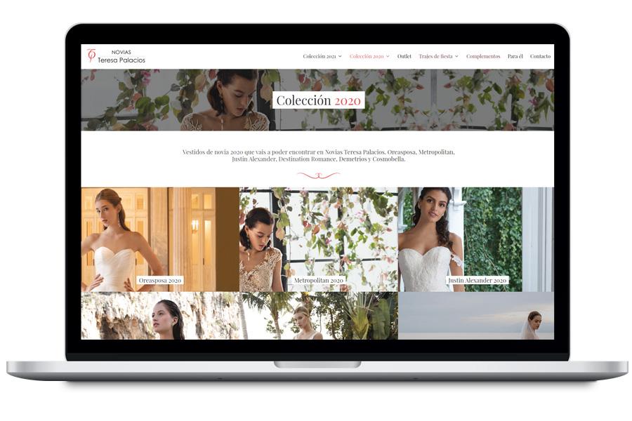 Diseño web de tienda de vestidos de novia