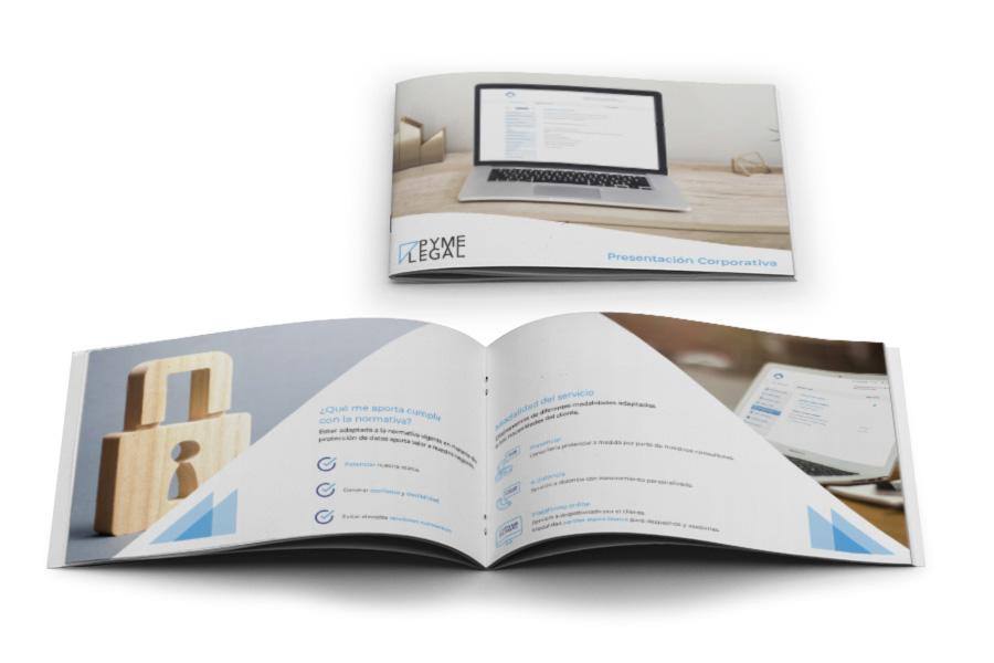 Pyme Legal - Diseño gráfico para empresa de protección de datos
