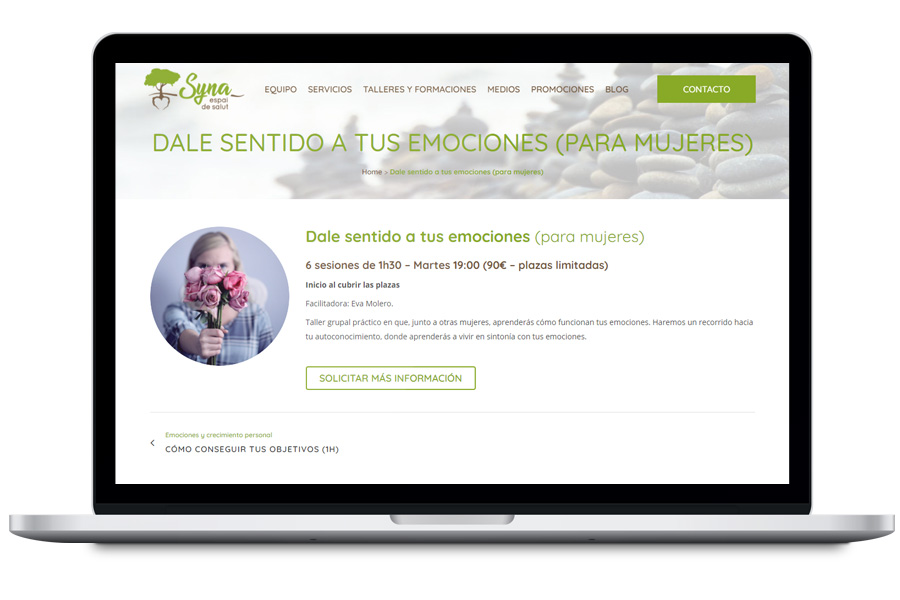 Syna Salut - Diseño web para centro de salud