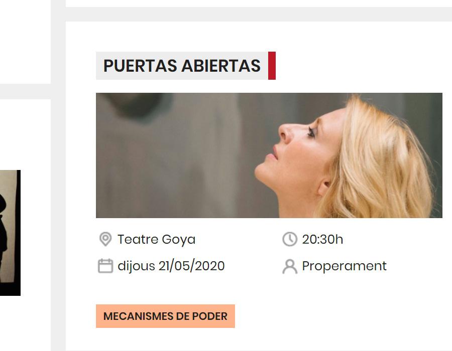 Travessia Recomana - Diseño web para espectáculos de teatro