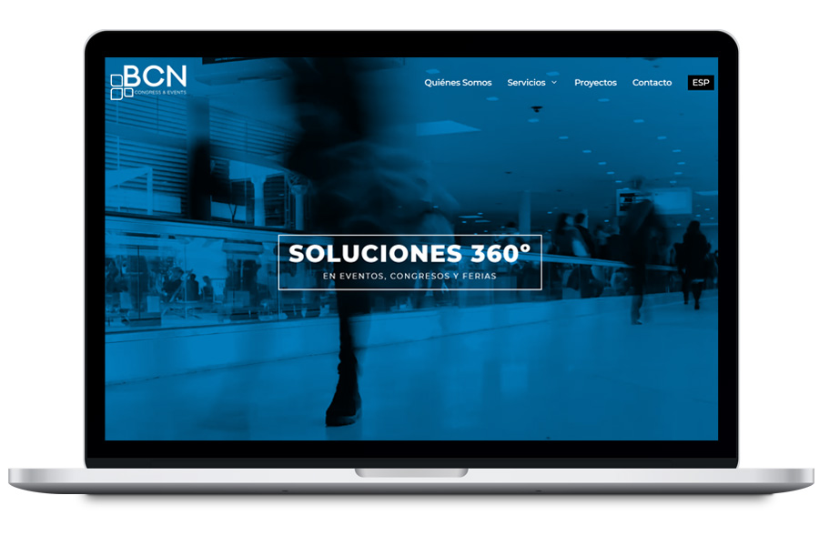 BCN Congress & Events - Diseño web corporativa