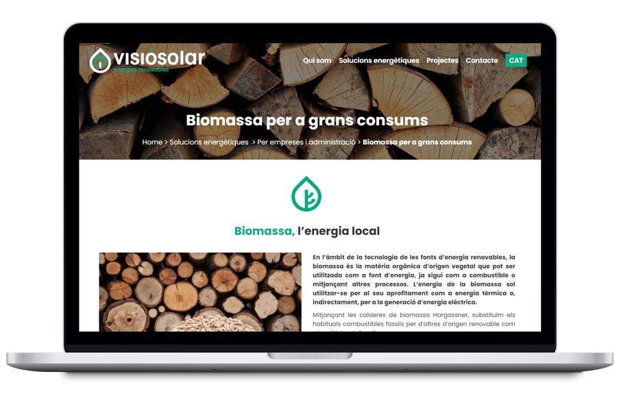 Diseño web corporativa para empresa de energías renovables