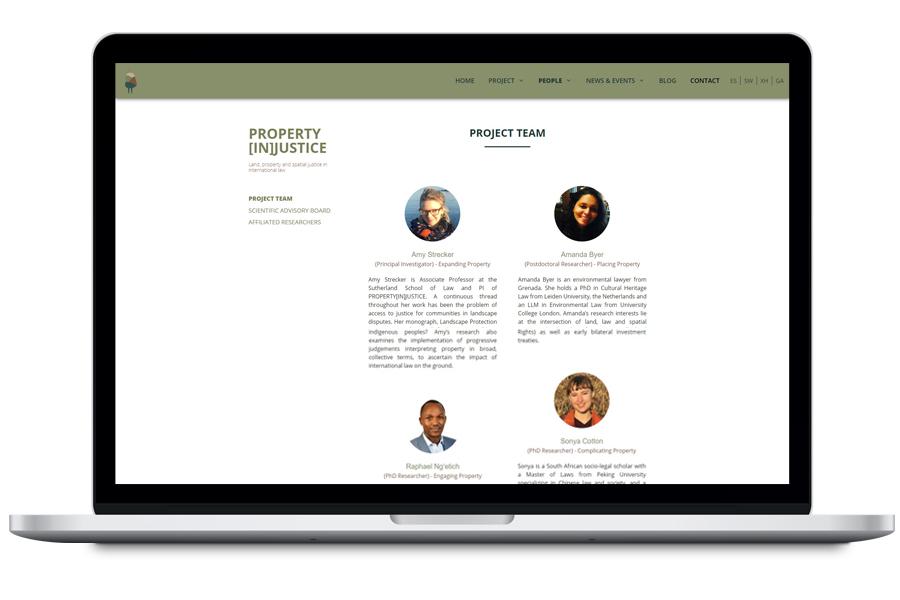 Property [in]justice - Diseño web para proyecto de investigación